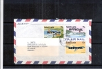 Letter From Saint Lucia To France - With OFFICIAL Stamps  (to See) - St.Lucia (1979-...)