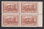 Canada, Scott #243, Mint Hinged Block Of 4, Fort Garry Gate, Winnipeg, Issued 1938 - Unused Stamps