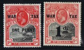 ST HELENA  1916  War Tax Issues  SG 87-8  Mint Hinged - Saint Helena Island