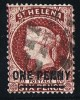 ST HELENA  Victoria  Overprinted Stamp   1 D. Perf 14  X 12½  Lake    Wmk CC + Frame Lines & Letters    SG 21 - Saint Helena Island