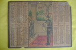 PEE/37 CALENDARIO 1925 - AUGURI DEL PORTALETTERE - POSTINO Con TARIFFE POSTELEGRAFICHE - Calendari