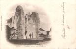 72 FRESNAY SUR SARTHE RUINE DE L'ANCIEN CHATEAU ANIMEE  CARTE PRECURSEUR VOYAGEE 1903 - France