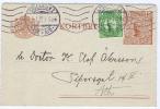 Sweden Kortbref Sveriges Riksbank Stockholm, 1922 With Extra Stamp