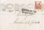 Carta ZARAGOZA 1937. Censura Militar - 1931-Oggi: 2. Rep. - ... Juan Carlos I