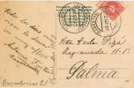 6610. Postal Barcelona A PALMA De MALLORCA (baleares) 1907 - Cartas