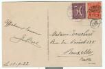 Allemagne - Mi 183, 225 Sur Lettre De Boppard Vers BXL Du 15/09/22, Voir Scan Verso - Covers & Documents