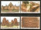 Thailand 2011 Thai Heritage Conservation Temple Castles Architecture 4v MNH # 5190 - Castles