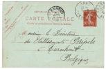 Entier 10c Arras 1910 Librairie Brunet - Entiers Postaux