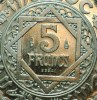 MAROC : 5 FRANCS ESSAI 1370 SPLENDIDE - Colonies