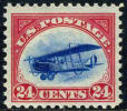 US C3 Mint Hinged 24c Airmail Of 1918 - Air Mail