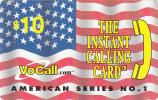 USA - Flag, VoCall Prepaid Card $10, Exp.date 31/03/03, Used - Etats-Unis