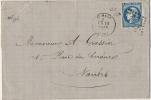 N° 46B III REP. 2 CÉRÈS ÉMISSION DE BORDEAUX 1870 SUR FRAGMENT - BLEU FONCÉ - OBLITÉRÉ B / TB - SAINT-MALO - 1849-1876: Classic Period
