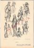 (q)militaria 14/18=croquis Militaire Peint Par Fouqueray- X.armée Belge  Papier épais    (21x29) - 1914-18