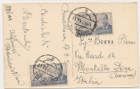 ESPAÑA - 1954 TARJETA POSTAL De La Sagrada Familia  Enviada Via Aerea De BARCELONA A MONTALTO DORA - ITALIA - - 1951-60 Cartas