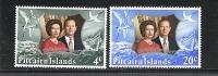 Pitcairn ** , 127 - 28 , Silberhochzeit Des Königspaares , Elisabeth II - Postzegels