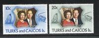Turks Und Caicos Inseln  ** , 299 - 00 , Silberhochzeit Des Königspaares , Elisabeth II - Turks- En Caicoseilanden