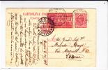 "ITALIE - POSTE EXPRES - 1918 - CARTE POSTALE ENTIER De REGGIO Pour TORINO Avec AMBULANT ""FIRENZE-MILANO"" - 1900-44 Victor Emmanuel III."