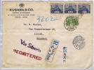 Japan Registered Letter Tokio, Via Siberia To Arnhem Holland, 1936, Mixed Stamps With Strip Of 3 - 1926-89 Keizer Hirohito (Showa-tijdperk)