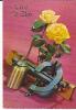 Vive Saint-Eloi. Burette D'huile, étau, Niveau à Bulle. Roses Jaunes. - Fêtes - Voeux