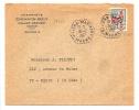 30C COQ OBL TÀD HEX TIRETÉ DE RECETTE AUXILIAIRE VILLERS-MARMERY-MARNE 1967 - Marcophilie (Lettres)