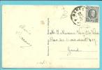 """193 Op Kaart """"Un Bojour De Denee"""" Met Sterstempel (Relais) * DENEE * - 1922-1927 Houyoux"""