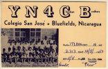 NICARAGUA COLEGIO SAN JOSE' BLUEFIELDS QSL 1953 - Nicaragua