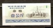 CHINA 1987 SIPING CITY GRAINS COUPON 1000g - China
