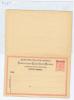 Österreich Levant Türkei: Carte Postale Mit Antwort Ferchenb. 11 / Michel P 11 B , - Oriente Austriaco