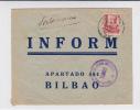ESPAGNE - ENVELOPPE Avec CENSURE De SALAMANCA Pour BILBAO - Marcas De Censura Nacional