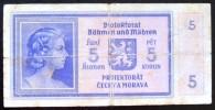 Billet Bohême Et Moravie - Tchécoslovaquie