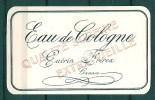 ETIQUETTE GUERIN FRERES -  GRASSE - EAU DE COLOGNE - Labels