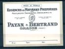 ETIQUETTE PAYAN & BERTRAND -  GRASSE - ESSENCES ET MATIERES PREMIERES - Labels