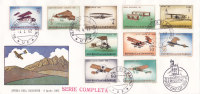 SAN MARINO : Lettre 23 X 11 Cms. - Série Complète - Jour D'émission  : 4.4.1962 // Avions - Lettres & Documents