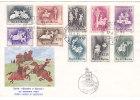 SAN MARINO : Lettre Serie Giostre E Tornel // Primo Giorno Di Emissione 22.6.1963 - Dim : 20 X 14 Cms. - Saint-Marin