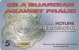 Micronesia, FSM-R-092, $5, Guardian Against Fraud, 2 Scans. - Micronesia