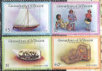 1124 Ships Boats 1986 St Vincent Gren 4v Set MNH ** - Ships