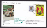 United Arab Emirates Airmail Luftpost Par Avion Lufthansa-Erstflug 1st Flight 1986 Card ABU DHABI - MANILA Philipines - Abu Dhabi