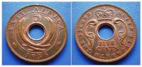 EAST AFRICA - FIVE CENTS 1956 KN - British Colony