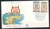 MONACO Mi.Nr. 742-743  EUROPA CEPT 1963  -FDC - Europa-CEPT