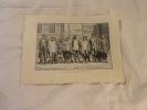 LES FORCATS DANGEUREUX  GRAVE PAR DEVOS  D APRE UNE PHOTO 1860 - Bagne & Bagnards