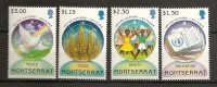 Montserrat 1995 N° 861 / 4 ** Nations Unies, Epi De Blé, Education, Livre, Sport, Santé, Paix, Colombe - Montserrat