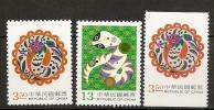 Formose 2000 N° 2561C / D + 2561Ca ** Nouvel An,  Année Du Serpent, Faune, Serpent Stylisé - 1945-... République De Chine