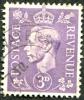 1941 - Europe - Grande-Bretagne  - Georges VI - 3p Lilas - Fond Clair - Used Stamps