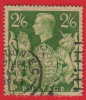 1942 - Europe - Grande-Bretagne  - Georges VI  -  2.6 S  Vert-jaune - - Used Stamps