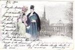 Cp/pk Jack Abeille Art Nouveau Jugendstil Palais De Justice Ste Chapelle 1900 - Other Illustrators