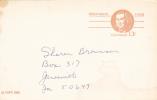 Postal Card - Roberts Morris - Scott # UX93 - Postal Stationery