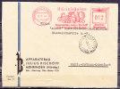 Brief Freistempel Apparatebau Julius Bischoff Mühringen Nach Mährisch-Ostrau Mit Ankunftstempel 1943 (3005) - Affrancature Meccaniche Rosse (EMA)