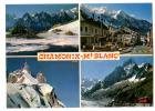 (56406) 74 Haute Savoie Chamonix Mont Blanc , Multivues ; Train Du Montenvers , Lac Blanc , Aiguille Du Midi - Eisenbahnen