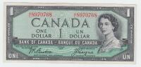 Canada 1 Dollar 1954 QEII VF P 74a 74 A - Canada