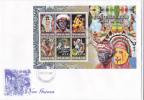 Papua New Guinea -2007 Contemporany Art Sheetlet FDC - Papouasie-Nouvelle-Guinée